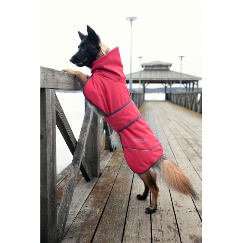 WINDY COAT CORAL-RED